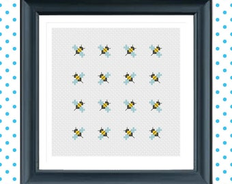 Busy Bees! PDF Instant Download Cross Stitch Pattern