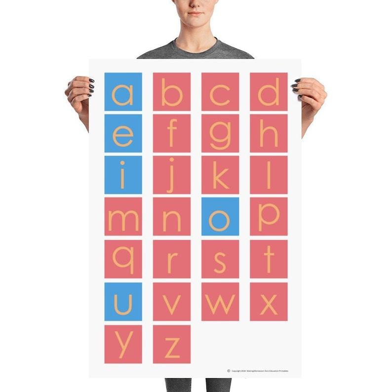 Montessori Sandpaper Letter Poster/ Alphabet Poster /Perfect image 0