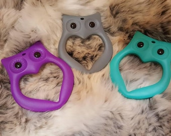 OWL silicone baby teething toy