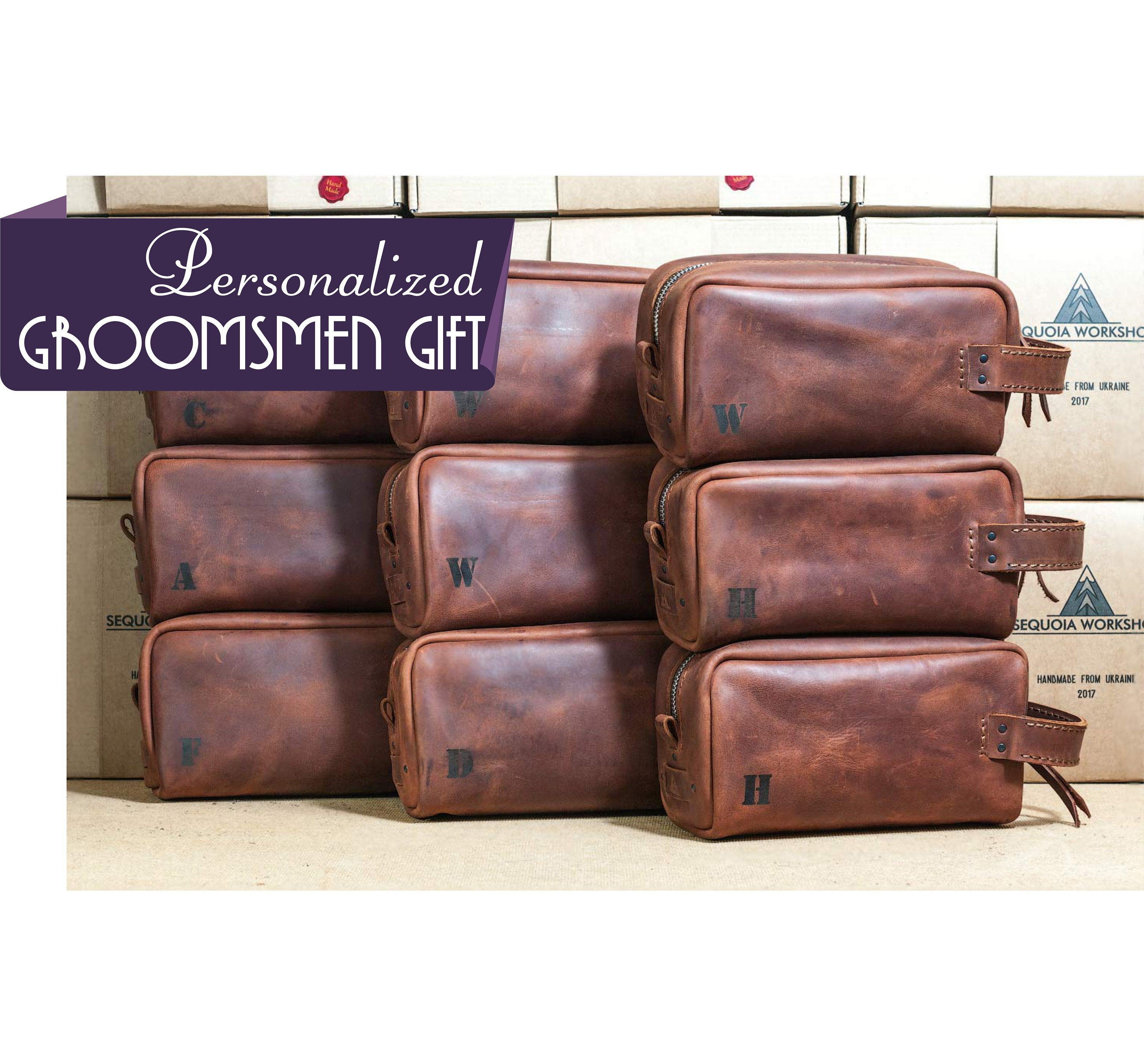 Groomsmen Gift Leather Toiletry Bag with Monogram  6592c312d8759