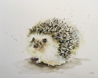 Hedgehog Giclee print - A4 - A3