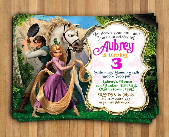 Rapunzel invitation tangled invitation tangled birthday etsy image 0 filmwisefo