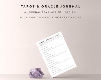 Tarot & Oracle Journal Sheet / Tarot Journal, Tarot Diary, Oracle Journal, Journal Template, Journal Sheet, Bullet Journal Printable
