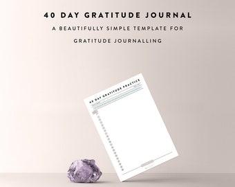 Gratitude Journal, Gratitude Journal Sheet, Journal Template, Journal Sheet, Habit Tracker, Bullet Journal Printable, Bullet Journal Sheet
