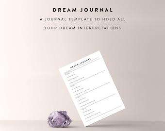 Dream Journal Sheet / Journal Template, Journal Sheet, Intuition Journal, Bullet Journal Sheet, Bullet Journal, Bullet Journal Printable