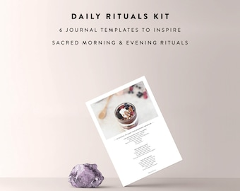 Daily Rituals Kit / Night Ritual, Morning Ritual, Journal Template, Daily Journal, Morning Routine, Bullet Journal, Printable Planner