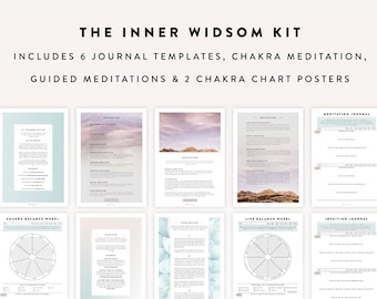Inner Wisdom Kit / Intuition Kit, Journal Template, Journal Sheet, Bullet Journal Printable, Meditation, Intuition Journal, Bullet Journal