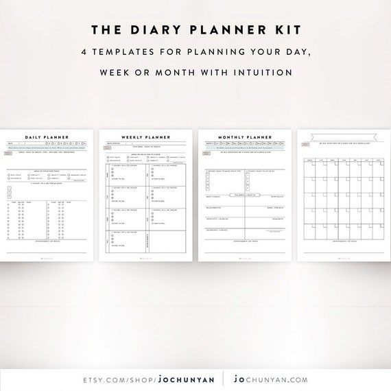 Daily Planner Kit Daily Planner Sheet Weekly Planner Daily | Etsy