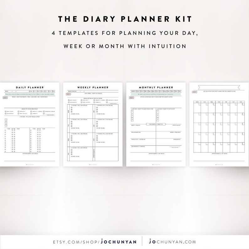 Daily Planner Kit Daily Planner Sheet Weekly Planner Daily Etsy