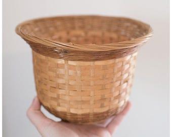 Wicker Planter | Indoor Plants | Vintage Woven Basket | Boho Home Decor