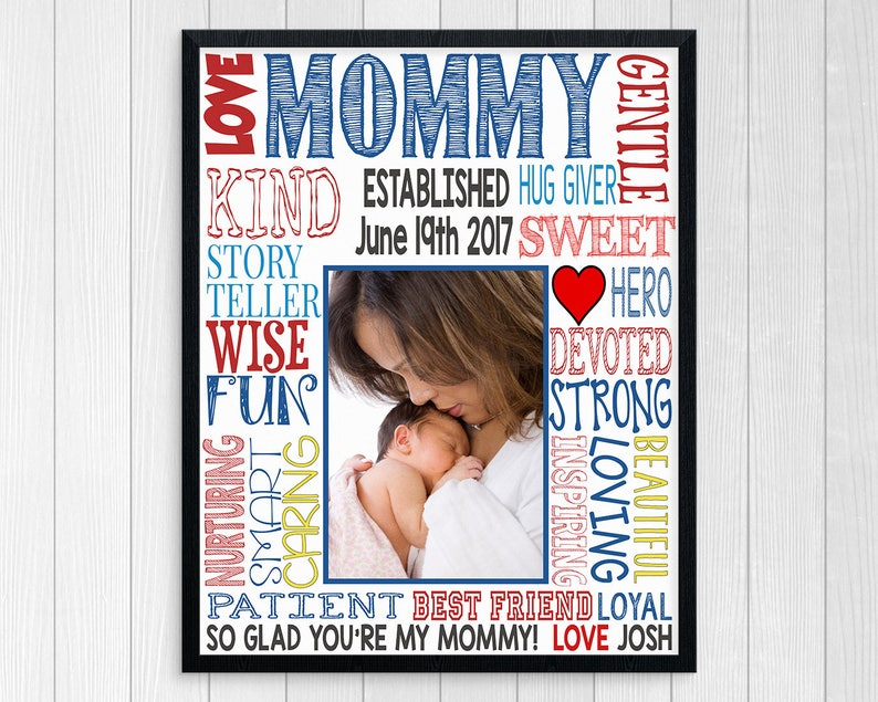 MOTHER'S DAY GIFT ~ First Time Mom Gift ~ First Mother's Day Print Poster ~  Printable Mother's Day Personalized Photo Subway Art