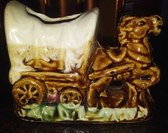 Horse and Carriage / Buggy Toothpick Holder 1970s