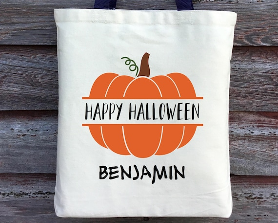 Personalized Halloween Bags   Personalized Halloween Bag Happy Halloween Bag Trick Or Etsy