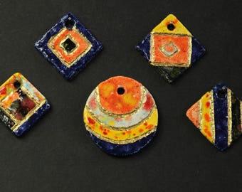 necklace, pendence, jewelry, glazed ceramic