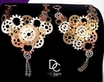 Custom Steampunk Hand Bracelets