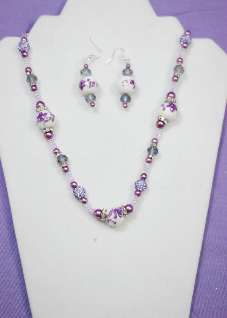 Purple /& WhitePurple Brooch Sparkle Collection Jewelry