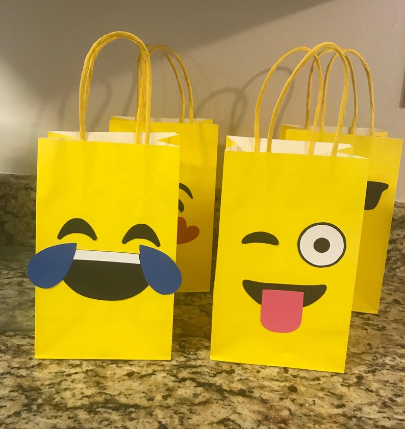 Emoji Birthday Party Supplies Bag Favor Goodie Bags Goody Decorations Theme Idea