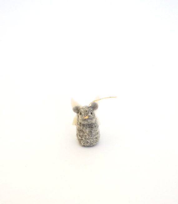 woodland art mice scene sweet thank you gift nature table Tiny fairy mouse wool sculpture collection needle felting gnome garden display