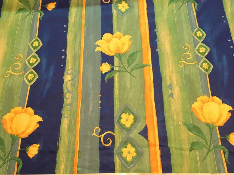 7a653e97e Vintage - bright green, yellow and blue tulip stripe medium weight