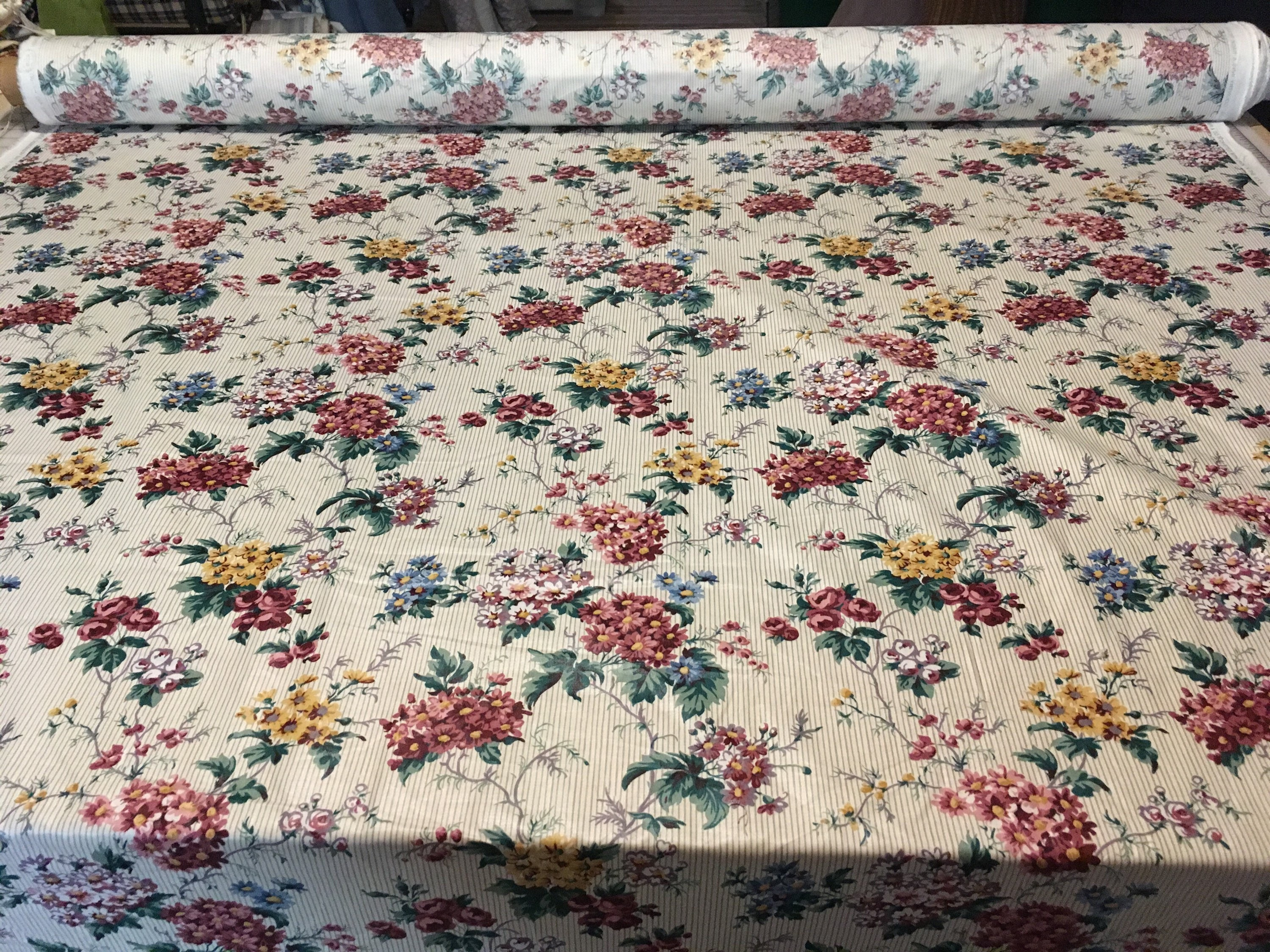 Vintage Waverly Country Inn Floral Country Roads Collection Purple