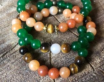 Custom Crystal Bracelet | Beads | Stones | Healing Energies | Meditation | Meditate | Spiritual | Spirituality | Boho | Bohemian | Spiritual