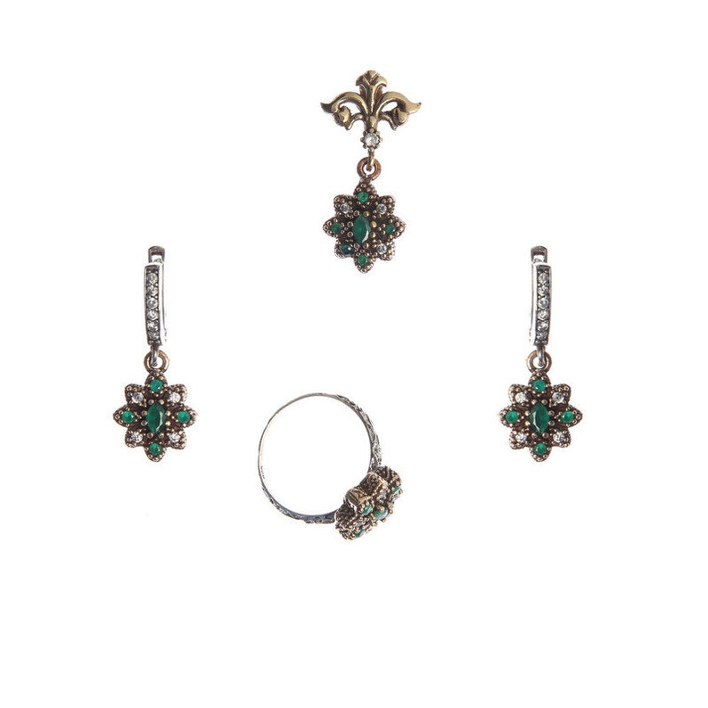 125535270c9bd Authentic Victorian (ottoman) style sterling silver jewelry sets for women  ZB20014