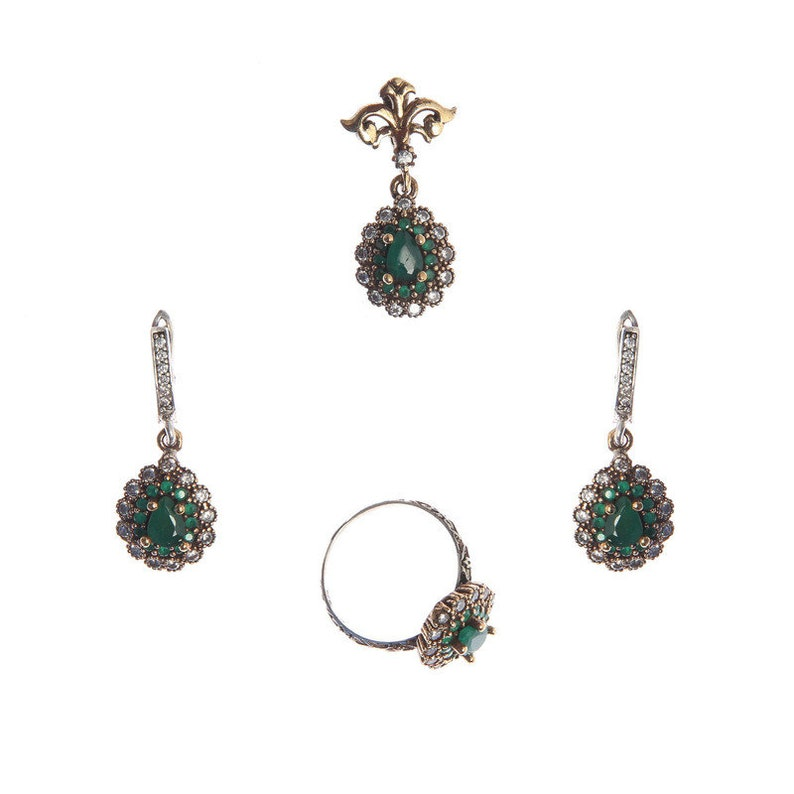 3d34f1f1fb542 Authentic Victorian (ottoman) style sterling silver jewelry sets for women  ZB20022