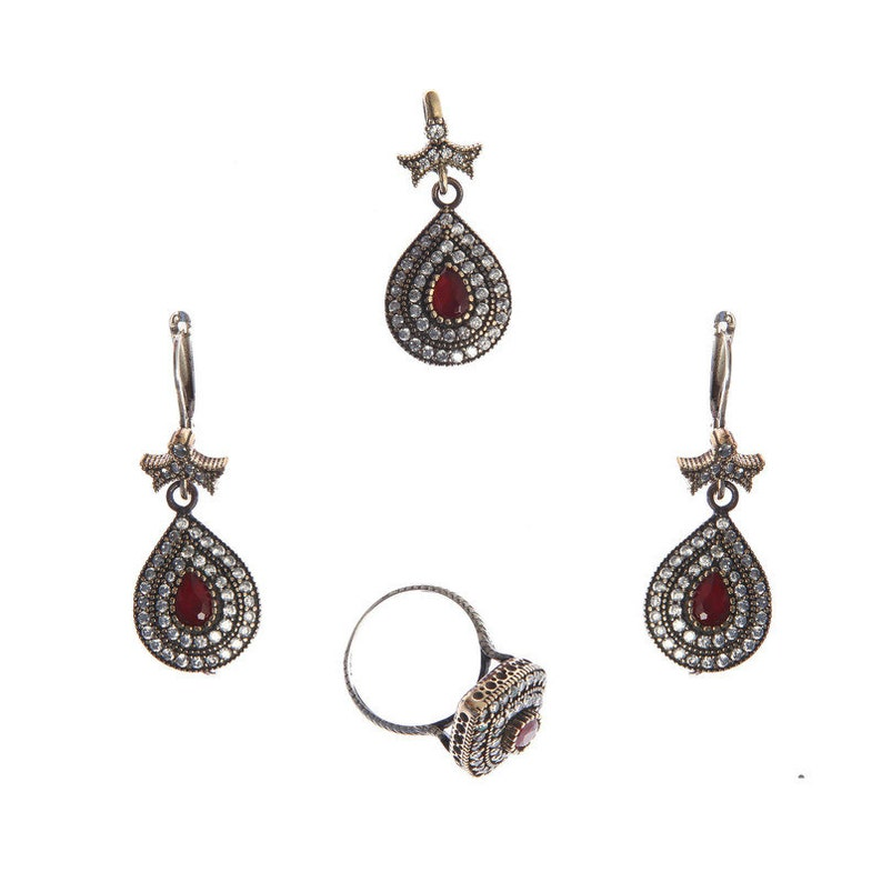 1a2642aa7fcd0 Authentic Victorian (ottoman) style sterling silver jewelry sets for women  ZB20024