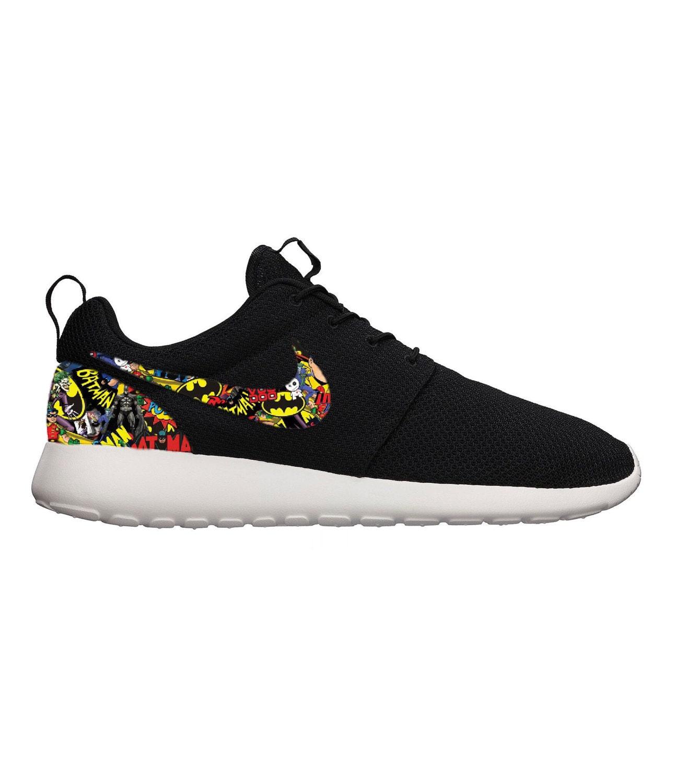 45451274aefa Batman Comic Custom Nike Roshe Run Sneakers