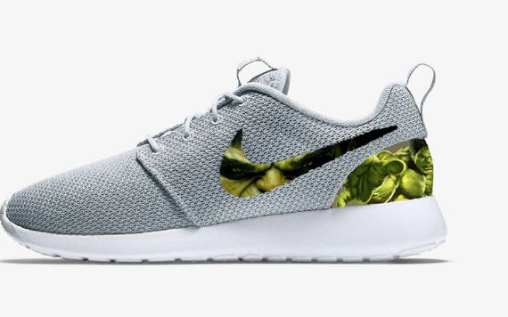 brillante en brillo buscar auténtico chic clásico Nike The Hulk Marvel Avengers Superhero Gray Roshe Run Custom | Etsy