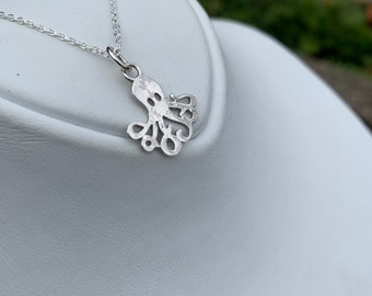925 Silver Octopus Pendant and Chain