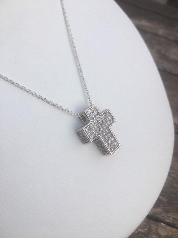 Pendant /& Chain Necklace 925 Silver Cross Crucifix