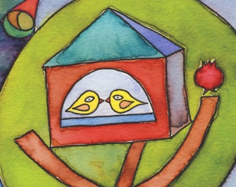 RESERVED FOR ARMIE Nest - watercolor print and verse