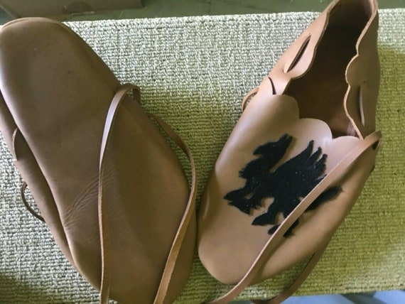 Rennaissance Medieval  Handmade Leather Shoes. Siz