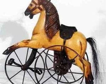 Antique Horse Velocipide Tricycle