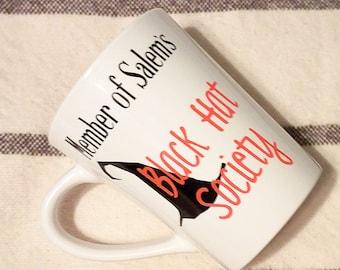 Member of Salem's Black Hat Society   Witch Mug   Witch Coffee Mug   Pagan   Wicca Inspired   Spiritual Mug   Pagan Mug   Witchy Mug   Salem