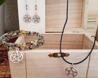 Pentacle Jewelry Set