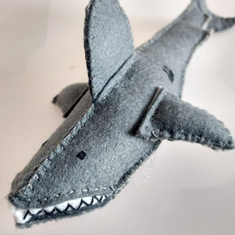 Wool Handmade Waldorf Shark Plush