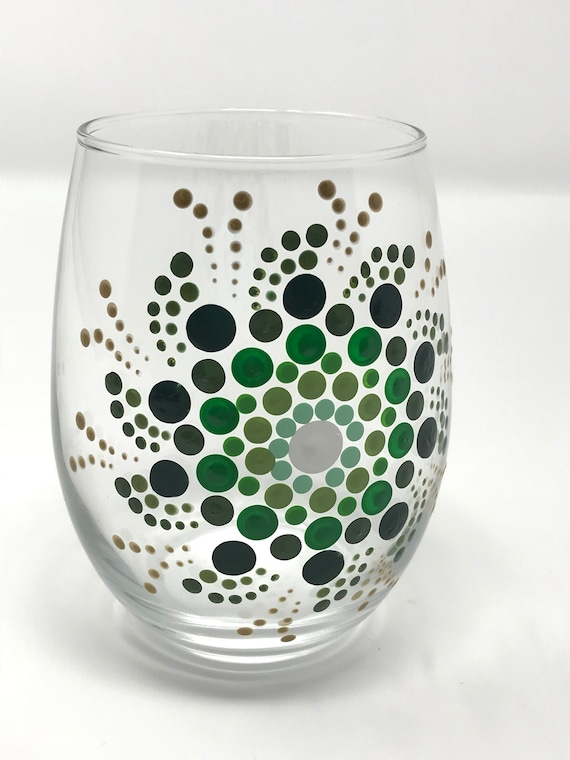 Green Wine Glass Design, ...
