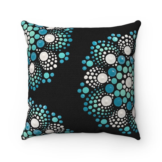 Blue And White Decorative Pillow Accent Pillow Throw Pillow Etsy Custom White Decorative Pillows For Couch