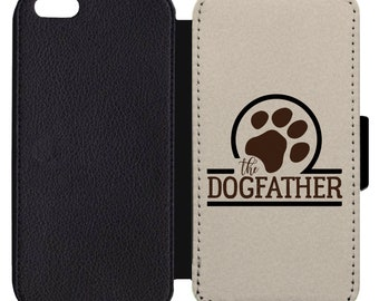 fbd47231 The Dog Father Print Pattern Flip Wallet Case Apple iPhone 4 5 5S SE 6 6S 7  7S 8 8S X XS Plus Max XR