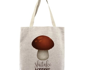 a43aa8a966e1 Custom Shiitake Happens Customizable Personalized Gift For Her Gift For Him  Mushroom Meme Farmers Market Shopping Bulk Tote Bag