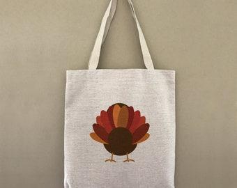 Custom Tote Bag Thanksgiving Turkey Customizable Personalized Gift For Her Gift For Him Fall Festive Feast Shopping Bulk