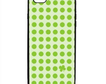 Shamrock St Patrick's Day Polka Dot Print Phone Case Samsung Galaxy S5 S6 S7 S8 S9 Note Edge iPhone 4 4S 5 5S 5C 6 6S 7 7S 8 8S X SE Plus