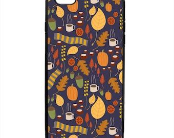 Fall Leaves Scarf Print Phone Case Samsung Galaxy S5 S6 S7 S8 S9 Note Edge iPhone 4 4S 5 5S 5C 6 6S 7 7S 8 8S X SE Plus
