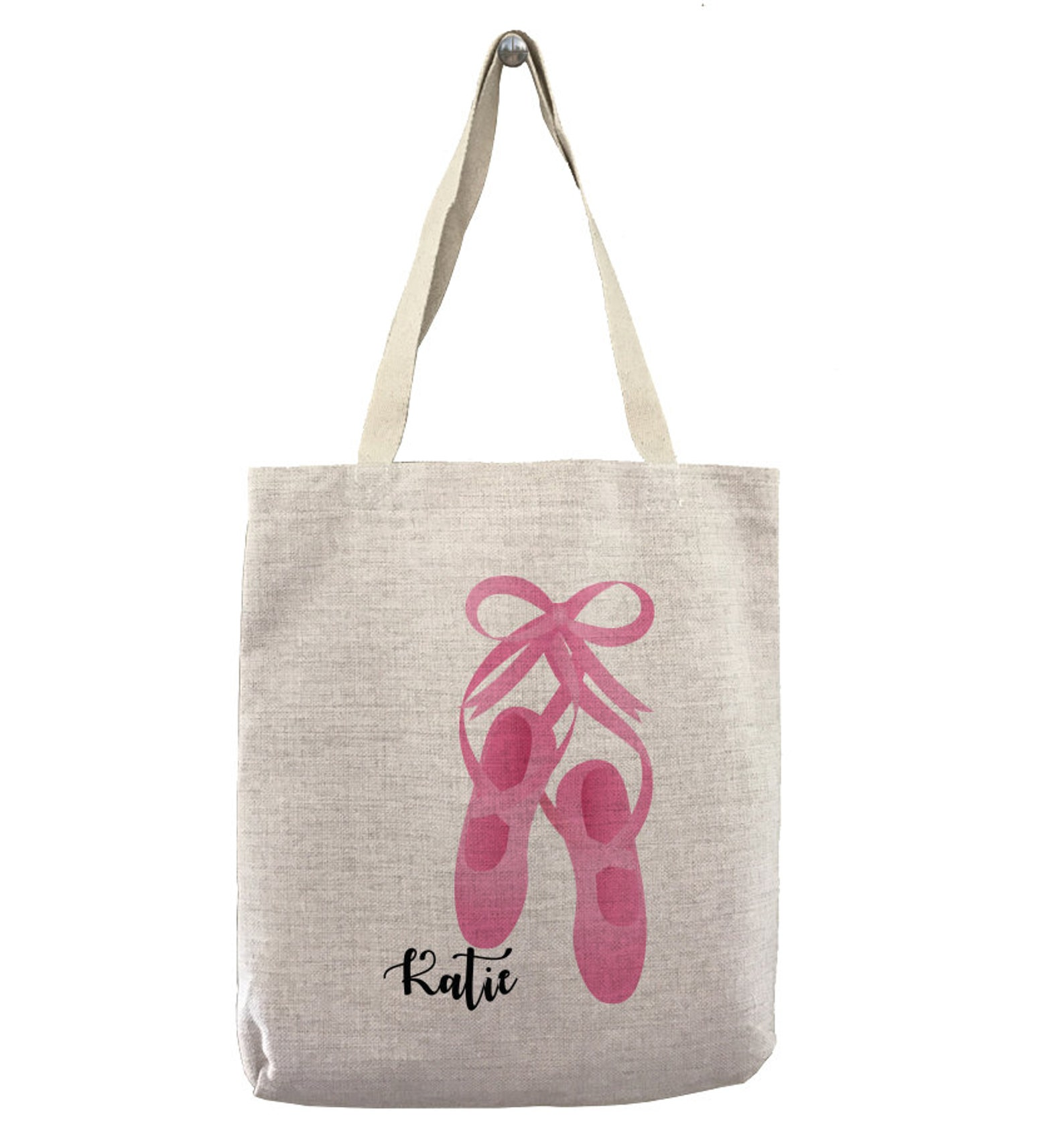 custom ballet shoes name custom customizable personalized gift for her dancing ballerina shopping bag bulk ballet dancer tote ba