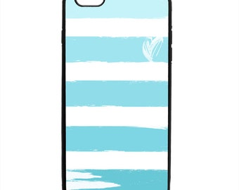 Valentine's Stripe Heart Print Phone Case Samsung Galaxy S5 S6 S7 S8 S9 Note Edge iPhone 4 4S 5 5S 5C 6 6S 7 7S 8 8S X SE Plus