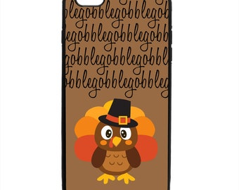 Thanksgiving Gobble Turkey Phone Case Samsung Galaxy S5 S6 S7 S8 S9 Note Edge iPhone 4 4S 5 5S 5C 6 6S 7 7S 8 8S X SE Plus