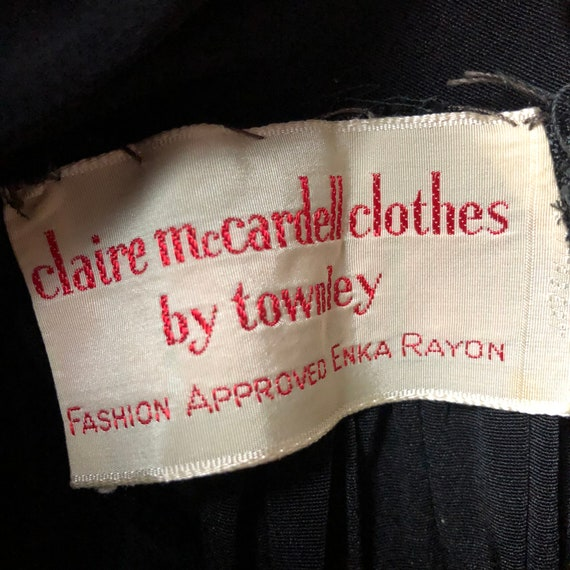 Rare 1950s Claire McCardell for Townley Rayon Bal… - image 10