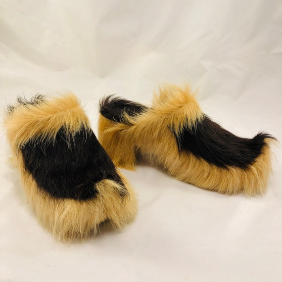 Amazing 1970s Fur Clogs, Found in France, Possibly